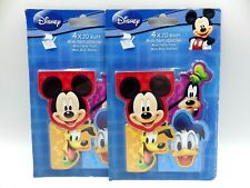 Disney mickey donald plutot lot de 2 blisters de mini Bloc note de 20 feuilles