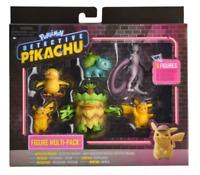POKEMON Detective Pikachu Multi-Pack 6 Figures Psyduck Mewtwo Ludicolo Bulbasaur
