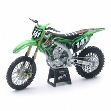 Modellini statici di moto e quad motocross verde pressofuso