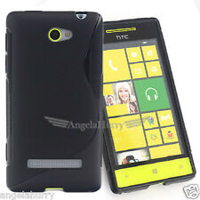 2x Premium S Curve Soft TPU Gel Case Cover For HTC 8S Windows Phone