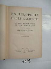 Palazzi ENCICLOPEDIA DEGLI ANEDDOTI volume secondo (65D3)