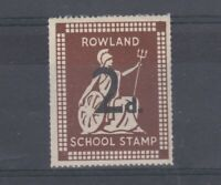 GB 1950s 2d Rowland School Cinderella Stamp MNH Scarce J5192