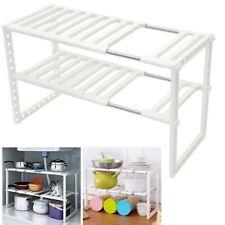 Kitchen Rack Under Sink Adjustable Expandable Storage Tidy Shelf Unit Organizer