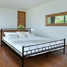 Metal Bed Frame Double Size Luxury Comfort Iron Sturdy Modern Top Quality Sleep