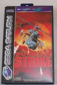 SOVIET STRIKE SEGA SATURN PAL COMPLET NEUF FRENCH VERSION