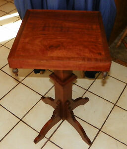 Solid Walnut Victorian Plant Stand Side Table  (PS232)
