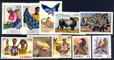 ZAMBIA 10 All Different Large Mint Thematic Flora & Fauna Stamps
