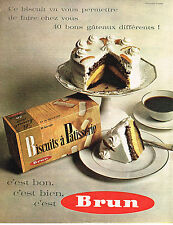 PUBLICITE ADVERTISING 024   1962   BRUN    biscuits à patisserie