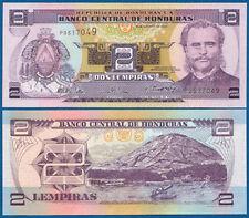 Honduras 2 lempiras 2004 UNC p. 80a e
