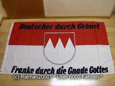 Fahnen Flagge Franken durch die Gnade Gottes Neu - 90 x 150 cm