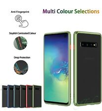 Shockproof Slim Silicone Clear Matte Bumper Case for Samsung S10e S10 5G Note10+