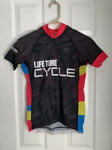 Lifetime Cycle Women's Jersey - Black With Pink/Blue - Size Small