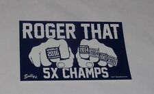 Roger That Patriots Champions Rings Tom Brady Bumper Sticker 5x7 Size FREESHIP