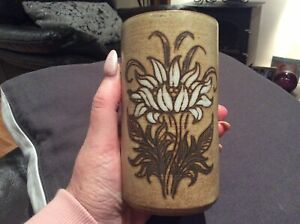 Vintage FAIT MAIN ~ VALLAURIS ( Hand Painted )Signed French Pottery Vase...Rare