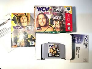 WCW vs. NWO World Tour Nintendo 64 N64 - Complete In Box CIB BOXED Tested!