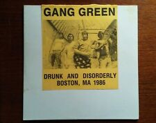 "GANG GREEN -DRUNK AND DISORDERLY-LIVE -10"" -BLUE VINYL- 500 MADE VERY RARE!!!!!"