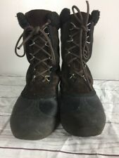 Sorel Cumberland Brown Lace Up Winter Boots Women's 8M