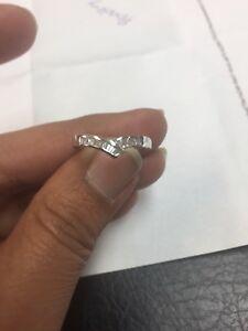 Bargain...0.40 Carat Baguette Diamond Half Eternity in White Gold