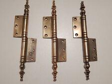 """7.3/8""""  Lot of 3 Antique/Vintage Italian Brass Hinges,Furniture,Door,Cabinet"""