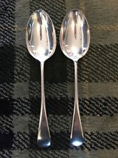 2 Unity Plate Old English A1 Epns 21cm Table Spoons