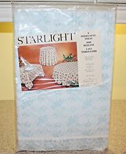 "VINTAGE STARLIGHT LACE TABLECLOTH NIP 64"" X 84"""