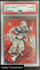 2000 E-X Emmitt Smith E-Xceptional RED #12 PSA 10 Gem Mint ! Beautiful Card !