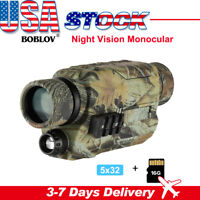 BOBLOV 5x32 16GB Digital Night Vision Monocular Scope with Camera & Camcorder
