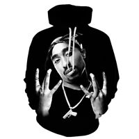 2pac Rappers Graphic Women Men Tupac West Side Black Pullover Hoodie Jersey Tee