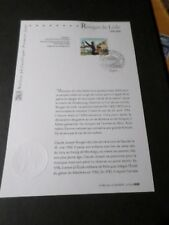 FRANCE 2006 NOTICE DOCUMENT FDC timbre 3939, ROUGET DE LISLE, 1° JOUR