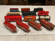 13 OLD TIN And Plastic MAR MARX TRAIN O SCALE FREIGHT CARS Mail Pullman Engine