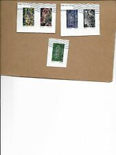 SCOTT 5514-18 INNOVATIONS SET OF FIVE STAMPS USED ON PAPER