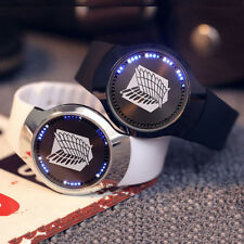 Anime Attack On Titan Watches LED Touch Screen Electronic Leather Wrist Watch