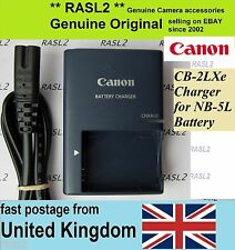 Genuino Canon charger,cb-2lxe Ion Nb-5l Powershot S100 Sx230 Sx220 Hs Sx200 Sx210 Is