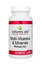 Natures Aid Multi-Vitamins & Minerals (without Iron) 60 Tabs
