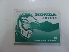 2001 Honda XR250R XR 250 R Owners Owner Operators Manual Brand New