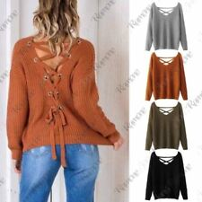 Lace Up V Neck Tops & Shirts for Women