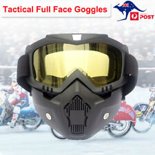 Outdoor Tactical Protection Goggles Full Face Glasses Motorbike Cycling Hunting