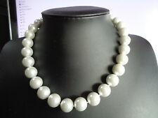 """White South Sea Philippines Natural Shell 14mm  Pearl  18"""" Necklace"""