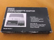 VINTAGE NOS KRACO 8-TRACK TO CASSETTE PLAYER ADAPTOR STEREO JAPAN NEW KCA-7