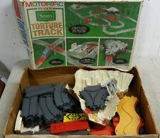 89pc Vtg Ideal Sears Motorific Racerific Torture Track Rally Racing Slot Car Lot