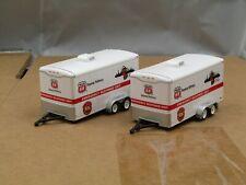 dcp/greenlight (2) tandem axle cargo trailers new no box 1/64.