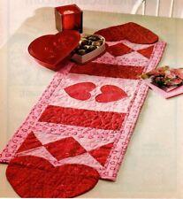 Valentine Table Runner Quilt Pattern Pieced/Applique PD