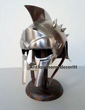Greek Warrior Gladiator Roman Spartan Costume Helmet With Wooden Stand Gift Item