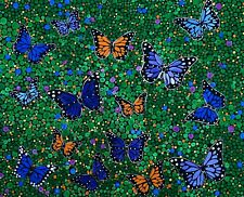 Butterfly painting on16x20 inch canvas, original art created with acrylics