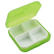 4-Day Square Medicine Pill Vitamin Box Case Storage Dispenser Organizer Holder Q