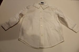Janie & Jack 6 to 12 mos boys nwt white button dress shirt