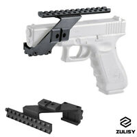Tactical Pistol Weaver Picatinny Rail Up&Down Sight Scope Mount 20mm for Glock