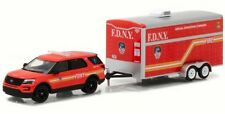 Greenlight 1/64 Hitch & Tow 2016 Ford Explorer FDNY & Operation Trailer (32100D)