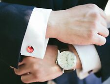 Swarovski Red Magma Crystal Cufflinks-Handmade in NYC-Limited Edition Gift