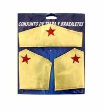 SUPERHERO COSTUME ACCESSORY SET Adult Wonder Women Fancy Dress Cosplay Outfit UK